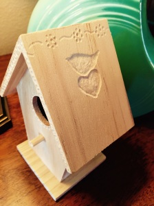 $1.99 birdhouse upgraded by the Dremel Micro. Nice!